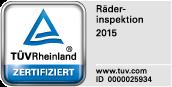 TÜV Siegel: RäderInspektion 2015